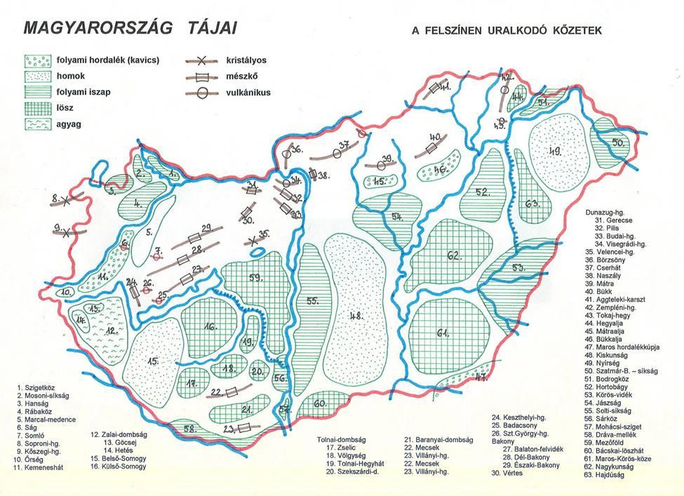 magyarország nagytájai térkép Digitális tanulás magyarország nagytájai térkép